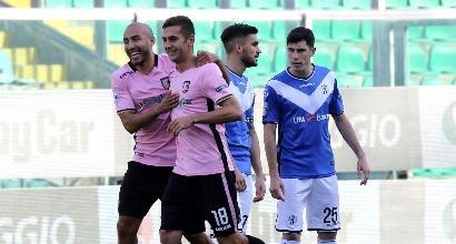 Serie B: il Palermo vince e va da solo in vetta, Pro Vercelli ok nello scontro salvezza