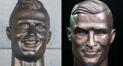 Madeira, aeroporto Cristiano Ronaldo: l'artista rifà la statua di CR7