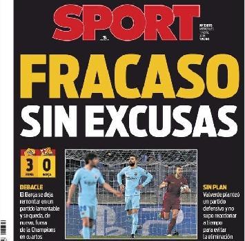 """Il """"Fracaso total"""" del Barcellona. E Iniesta: """"Forse la mia ultima Champions"""""""