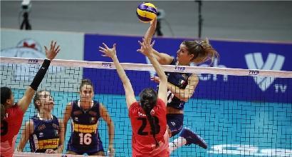 Volley, Mondiali femminili: l'Italia fa il bis, Canada ko 3-0