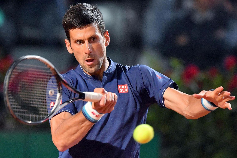 Diluvio a Roma, la pioggia ferma Djokovic