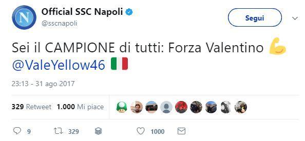 Infortunio Valentino Rossi: i messaggi di auguri