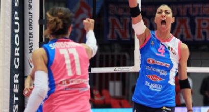 Volley, A1 femminile: Novara non ha scampo, Piacenza in finale