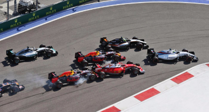 Incidente Kvyat-Vettel (LaPresse)