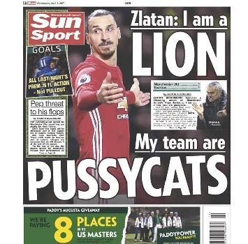 """Ibrahimovic: """"Io sono un leone, i miei compagni dei micetti"""""""