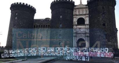 """Napoli, AdL nel mirino dei tifosi: """"Non sei un vero presidente"""". La risposta: """"Contestino pure"""""""