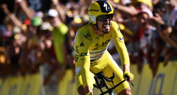 Tour de France: Alaphilippe è super! Il francese fa sua la cronometro di Pau