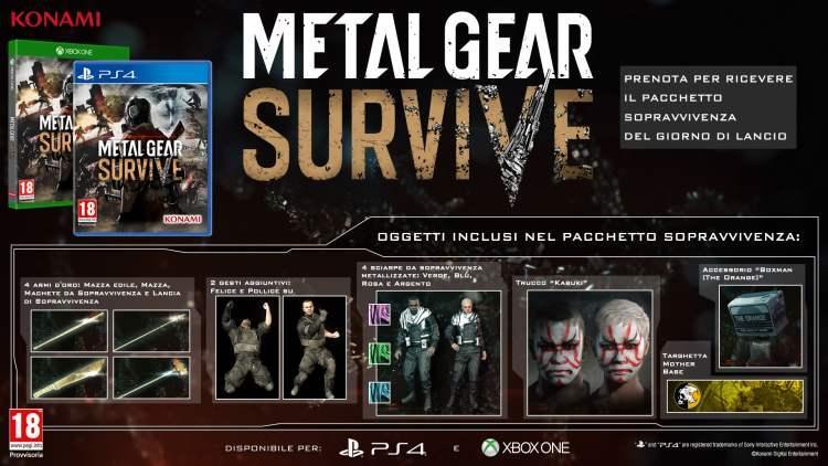 Metal Gear Survive: data di lancio e Pacchetto Sopravvivenza