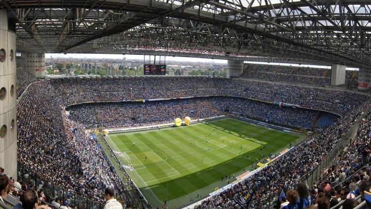 Lo stadio di San Siro oggi