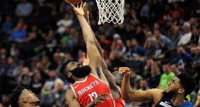 Nba, tornado Houston: Minnesota spazzata via