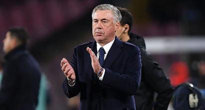 """Napoli, Ancelotti: """"Juventus non imbattibile ma servono miracoli per starle dietro"""""""