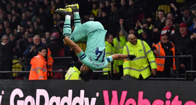 Premier League: all'Arsenal basta Aubameyang