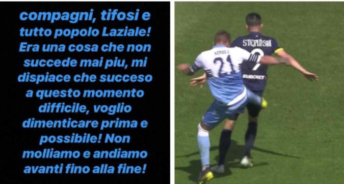 """Lazio, Milinkovic-Savic chiede scusa: """"Non molliamo"""""""