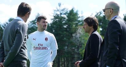 Milan-Lazio, Maldini e Leonardo a colloquio con Gattuso