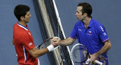 Djokovic-Stepanek, Foto Reuters