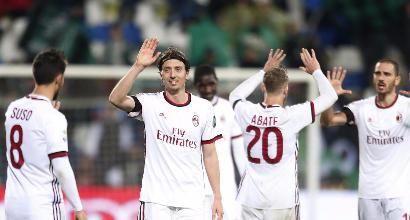 Milan, Montella si salva contro il fatal-Sassuolo