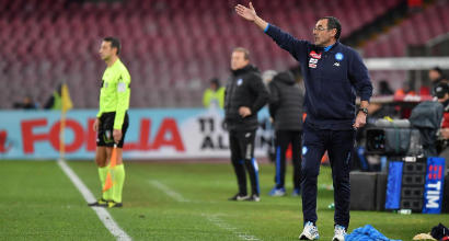 """Napoli, Sarri: """"Nelle coppe soffriamo..."""""""