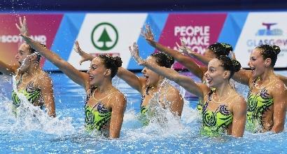 Nuoto sincronizzato: Europei, bronzo a squadre per l'Italia