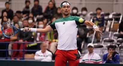 Coppa Davis, primo turno - Fognini batte Daniel, Seppi perde: Italia-Giappone 1-1