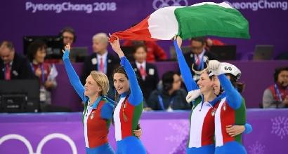 Short track, Italia argento in staffetta donne