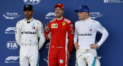 Vettel-Hamilton-Bottas, ANSA