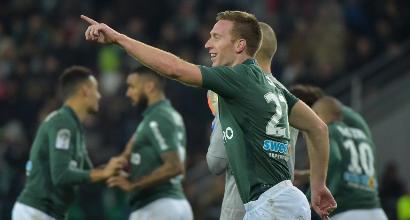 Ligue 1: il Saint-Etienne vince 3-0 e vola al terzo posto