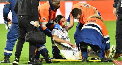 Ligue 1, St. Etienne: una maschera di sangue, che spavento a Bordeaux per Subotic!