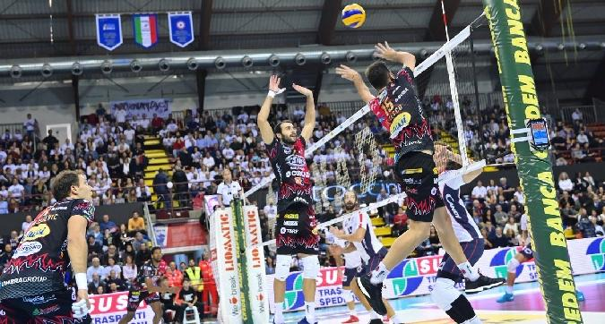 Volley, SuperLega: Perugia e Trento senza problemi, Civitanova vince al tie-break