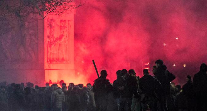 Roma, scontri prima del derby
