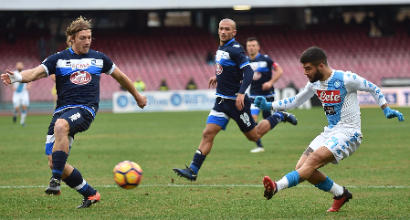 Napoli-Pescara. Azzurri scatenati nella ripresa, Tonelli centrale-goleador