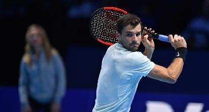 Tennis, Atp Finals: Goffin vola in semifinale, Dimitrov fa tre su tre