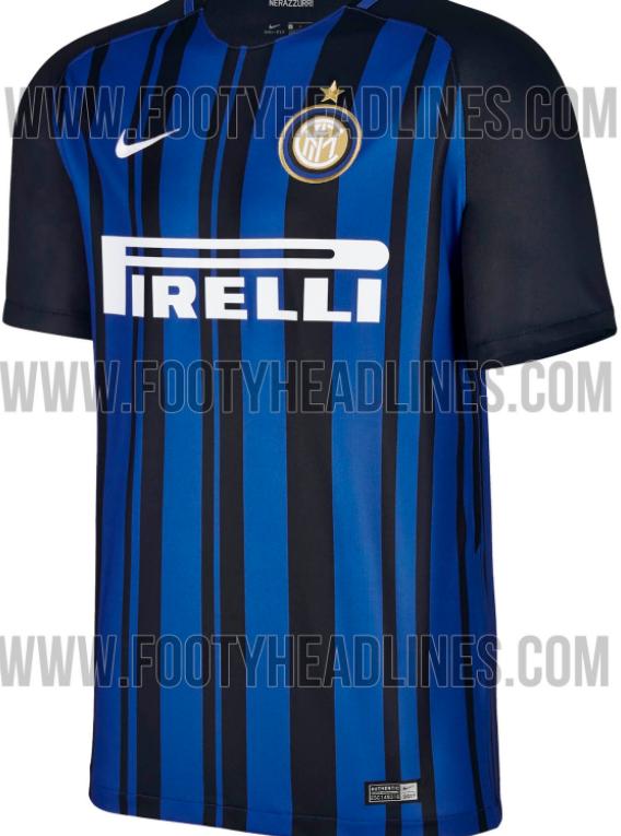 Il sito specializzato footyheadlines.com ha pubblicato le anticipazioni sulla nuova maglia dell'Inter per la prossima stagione. Una prima maglia con righe nerazzurre irregolari, quella disegnata dalla Nike, che già fa discutere i tifosi sui social.