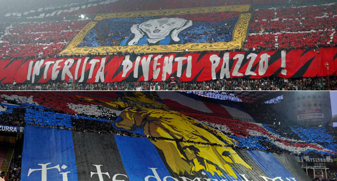Milan-Inter, le coreografie più belle del derby di Milano