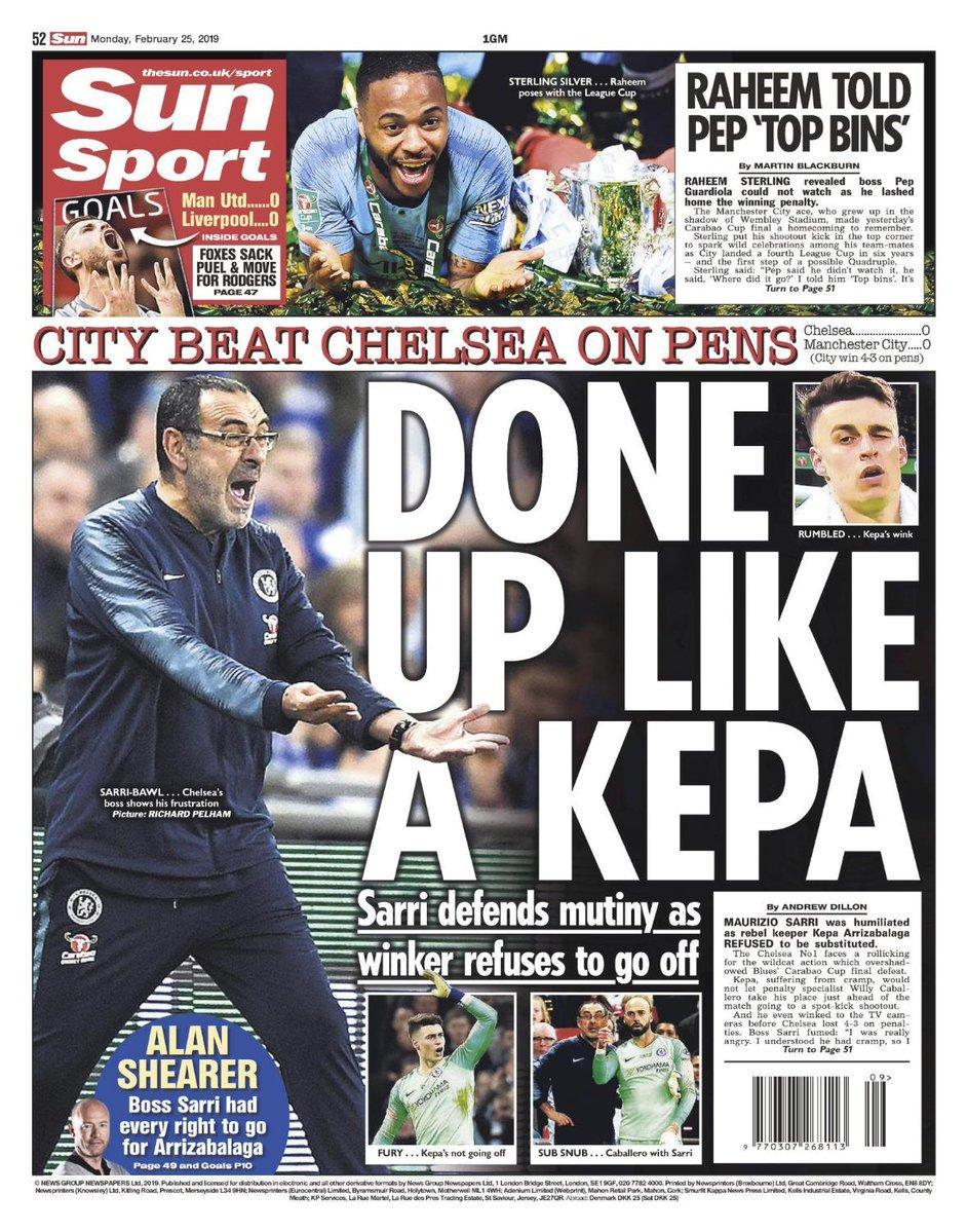 """Caos Kepa al Chelsea, Sarri sotto attacco: """"Ammutinamento finale"""""""