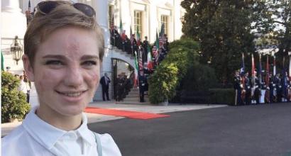 Bebe Vio a cena alla Casa Bianca da Obama con Matteo Renzi