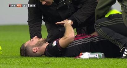 Bertolacci, infortunio record: si fa male dopo 10 secondi