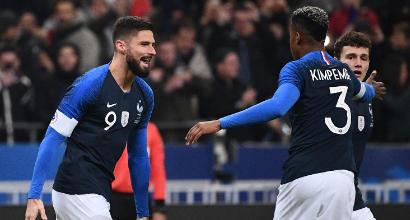 La Francia esulta con Giroud: niente vendetta per l'Uruguay
