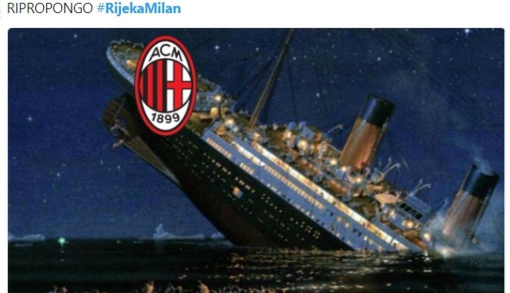 Milan, l'ironia social si ripete