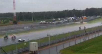 La vista laterale dell'incidente di Antonelli a Mosca