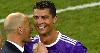 """Real Madrid, Zidane chiama Ronaldo: """"Resta, sei troppo importante"""""""