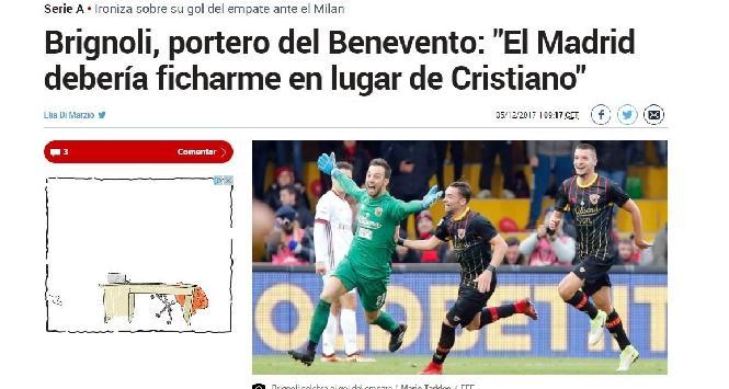 """Brignoli superstar su """"Marca"""""""