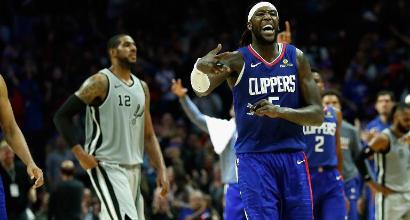 NBA, i Clippers di Gallinari la spuntano sugli Spurs di Belinelli
