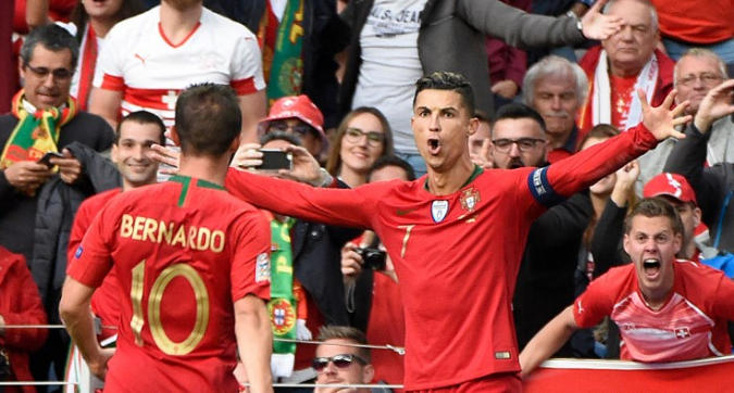 Nations League: triplo Ronaldo abbatte la Svizzera, Portogallo in finale