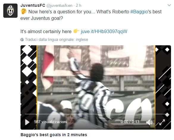 Roberto Baggio, gli auguri al Divin Codino