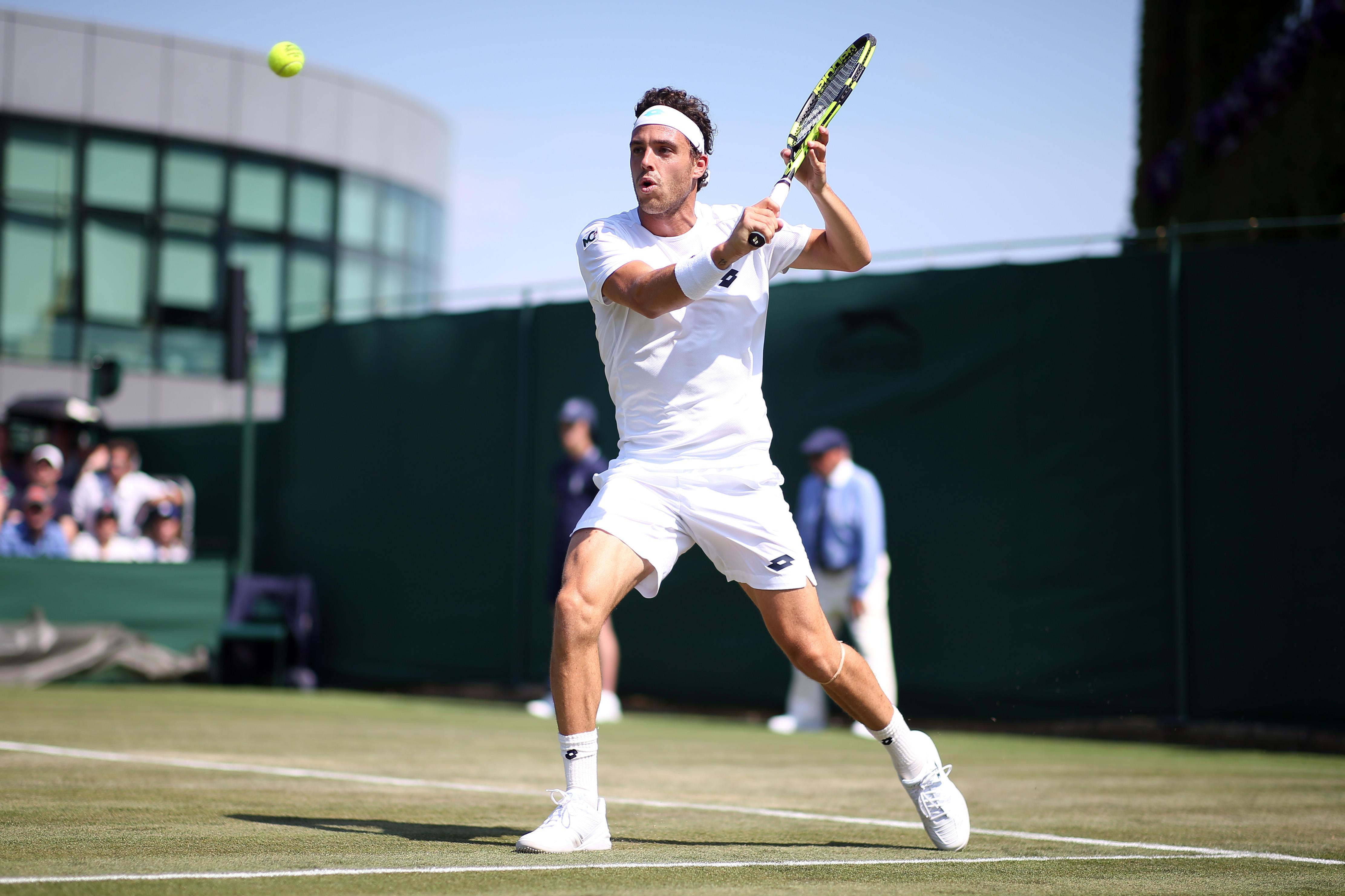 Wimbledon, Cecchinato subito fuori
