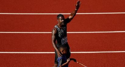 "Atletica: Gatlin spaventa Bolt, vola 9""80 sui 100 metri"