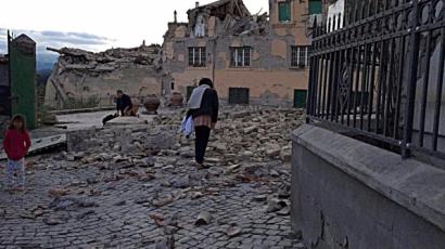 Terremoto, Pescara del Tronto rasa al suolo.
