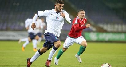 Amichevole, Under 21: Cutrone-Chiesa show, 6-2 all'Ungheria