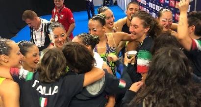 Nuoto, Europei di sincronizzato: ancora un argento per l'Italia