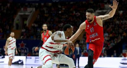 Basket, Milano cade contro il Cska